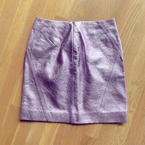 Karl lagerfeld metallic pink leather minis skirt